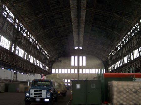 inside hanger no. 1 at Lakehurst NJ